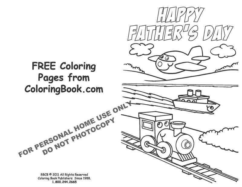 This is a photo of Free Printable Fathers Day Cards to Color regarding fun