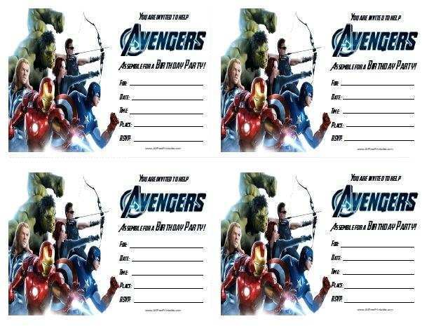 23 How To Create Birthday Card Template Avengers Now for Birthday Card Template Avengers