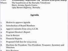 23 Online Template Of Agm Agenda Formating for Template Of Agm Agenda