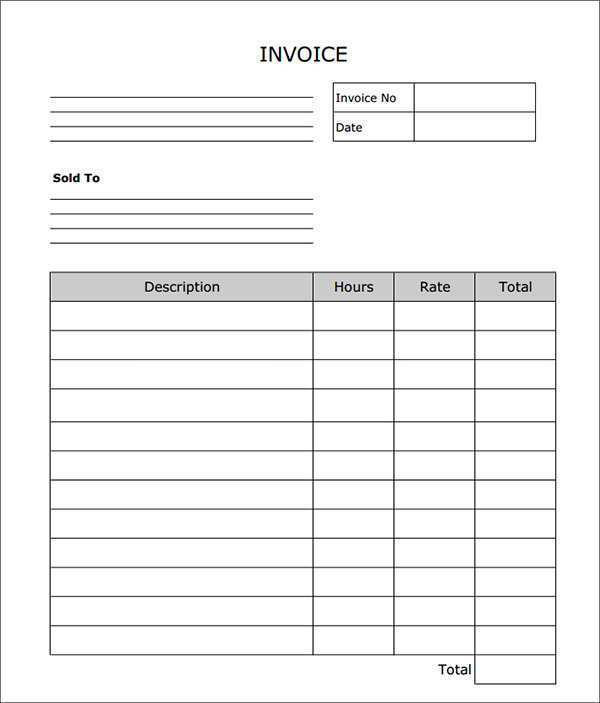23 Report Basic Blank Invoice Template Formating for Basic Blank Invoice Template