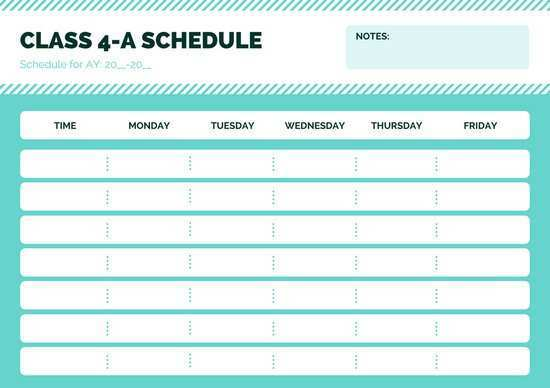 23 Report Class Schedule Template Free Layouts with Class Schedule Template Free