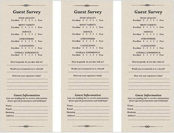 23 Standard Free Printable Comment Card Template With Stunning Design by Free Printable Comment Card Template