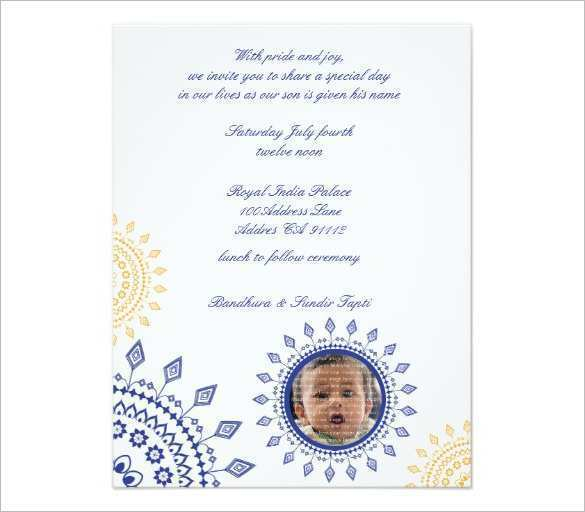 23 The Best Invitation Card Template For Naming Ceremony Now by Invitation Card Template For Naming Ceremony