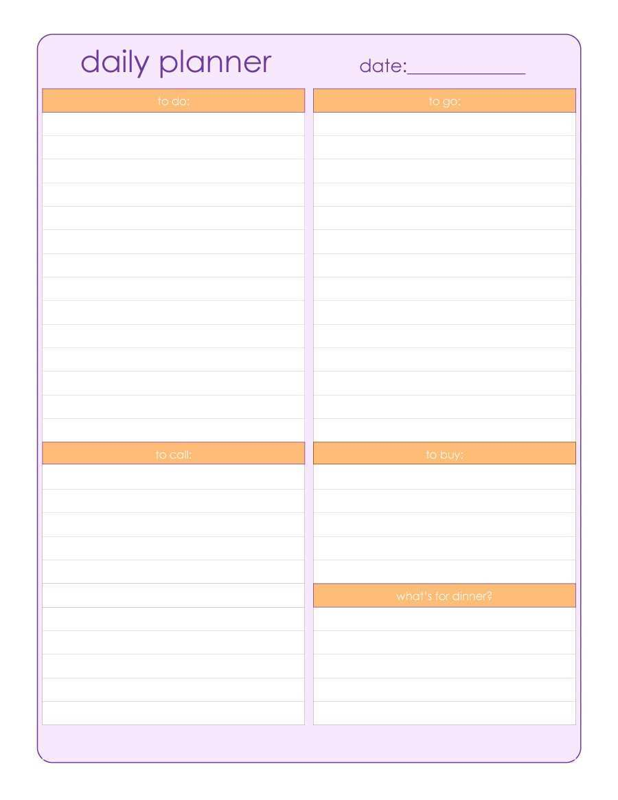 23 Visiting A Daily Schedule Template for A Daily Schedule Template