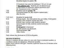23 Visiting Class Schedule Template Design PSD File by Class Schedule Template Design