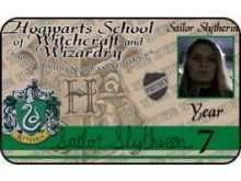 Harry Potter Id Card Template