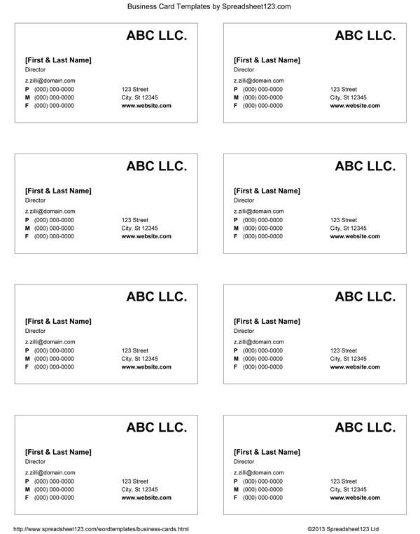 24 Adding A4 Name Card Template Word Formating with A4 Name Card Template Word