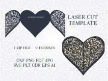 24 Blank Heart Card Templates Cdr PSD File for Heart Card Templates Cdr