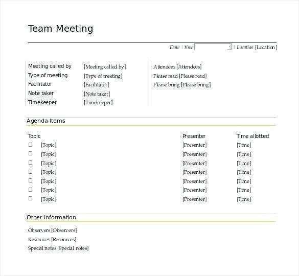 Meeting Notes Template For Word from legaldbol.com