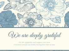 Thank You Card Templates For Funeral
