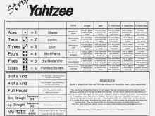24 Customize Yahtzee Card Template Maker with Yahtzee Card Template