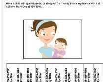 24 Format Babysitting Flyer Templates PSD File with Babysitting Flyer Templates