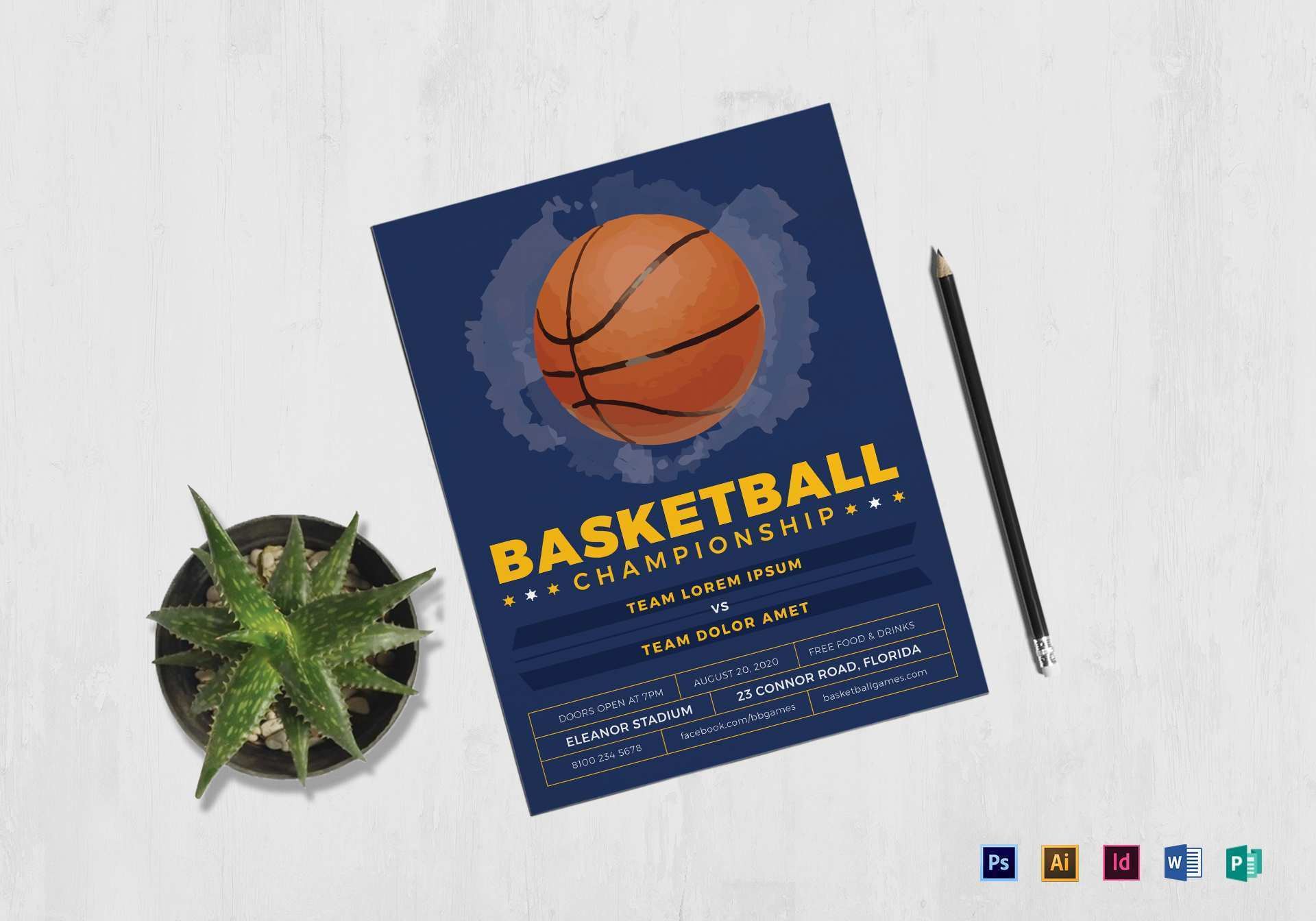 24 Format Basketball Flyer Template Word For Free with Basketball Flyer Template Word