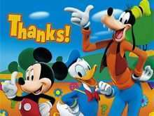 24 Format Mickey Thank You Card Template PSD File for Mickey Thank You Card Template