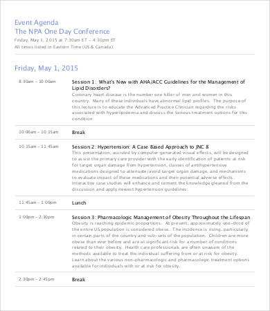 24 Free Printable 1 Day Conference Agenda Template Templates for 1 Day Conference Agenda Template
