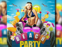 24 Free Printable Beach Party Flyer Template Now for Beach Party Flyer Template