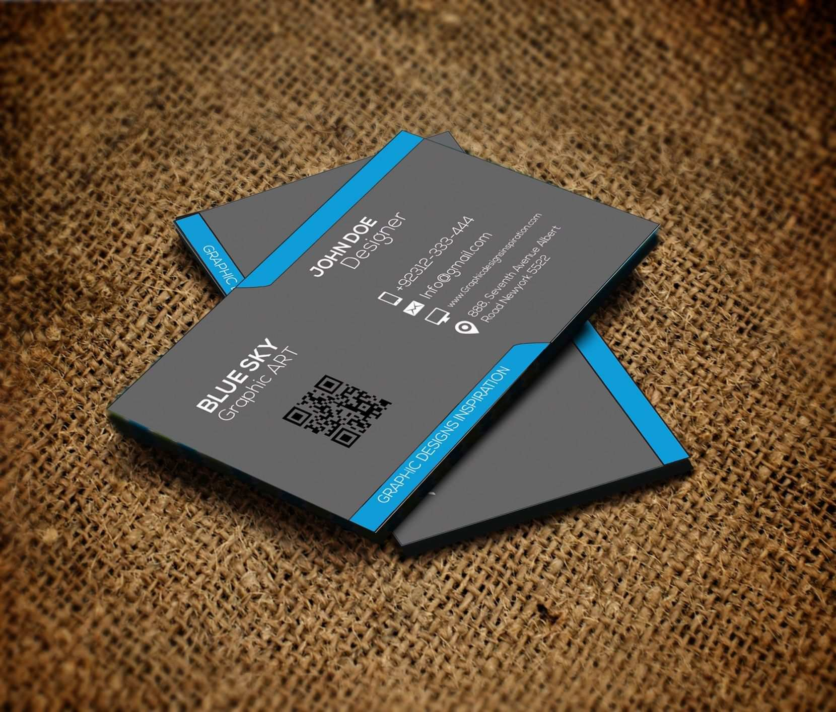 Two Sided Business Card Template For Word - Cards Design ...