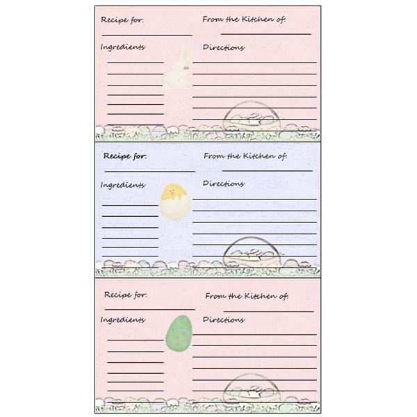24 Printable Word Recipe Card Template Free in Photoshop with Word Recipe Card Template Free