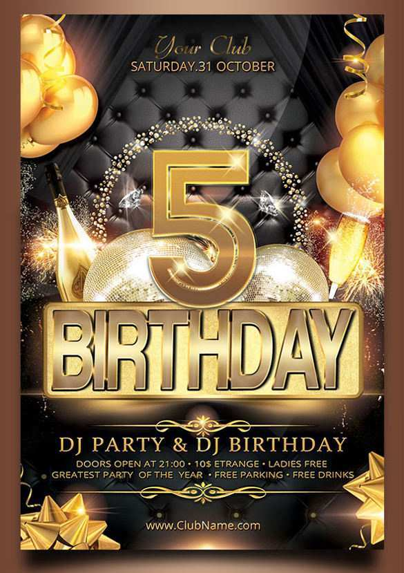 24 Report Birthday Party Flyer Template Now by Birthday Party Flyer Template