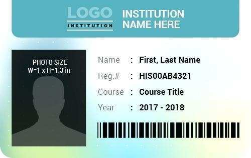 Student Id Card Template Excel Layouts