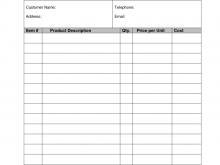 24 Standard Blank Receipt Template Doc Formating for Blank Receipt Template Doc