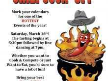 24 Standard Chili Cook Off Flyer Template For Free by Chili Cook Off Flyer Template