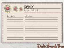 24 Standard Recipe Card Template For Word 4X6 With Stunning Design for Recipe Card Template For Word 4X6