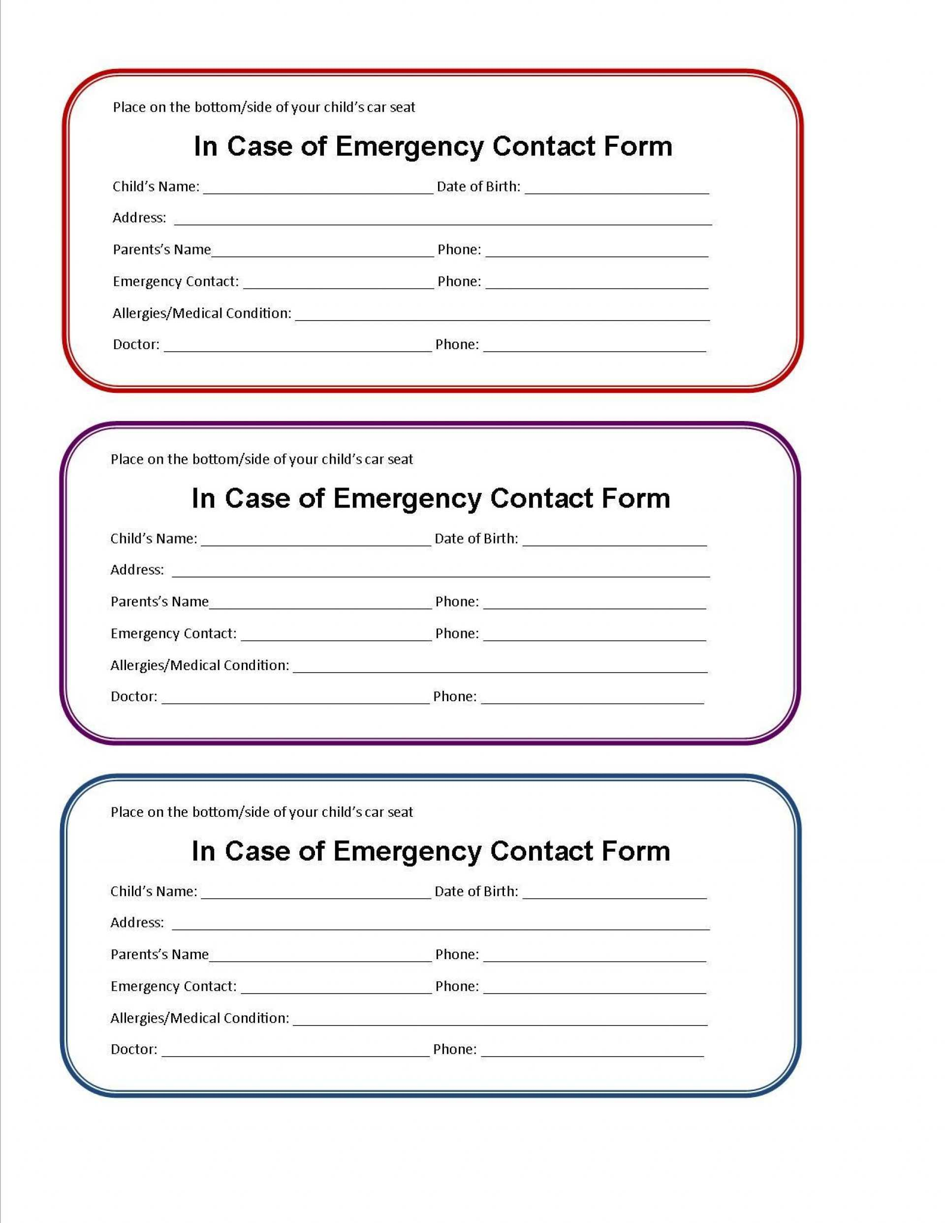 24 The Best Emergency Id Card Template Templates with Emergency Id Card Template