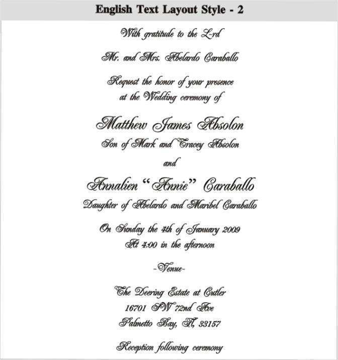 Invitation Card Format English Cards Design Templates