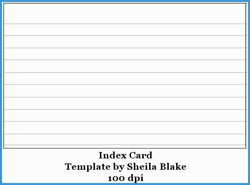 24 Visiting 3 X 5 Index Card Template Free Formating with 3 X 5 Index Card Template Free