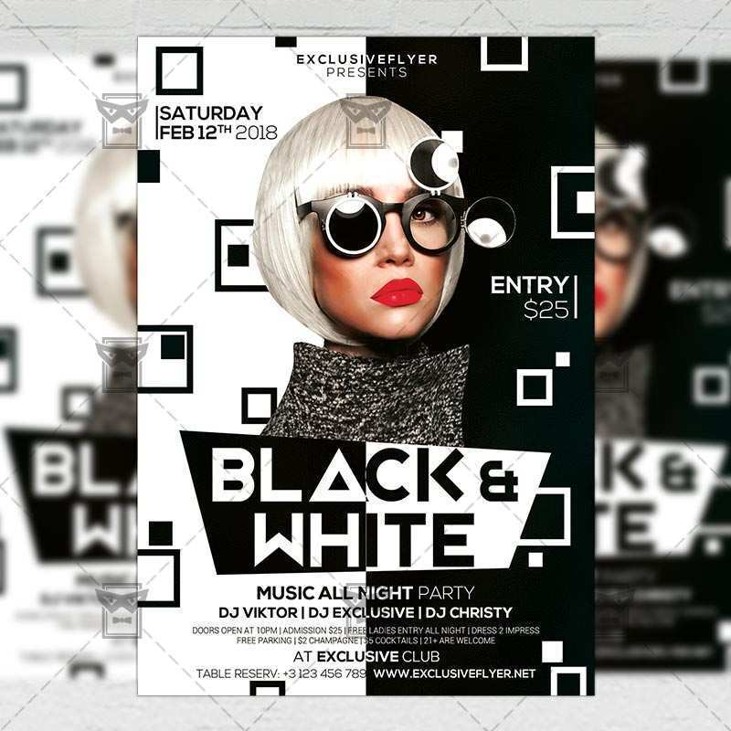 24 Visiting Black And White Flyer Template Free Formating with Black And White Flyer Template Free