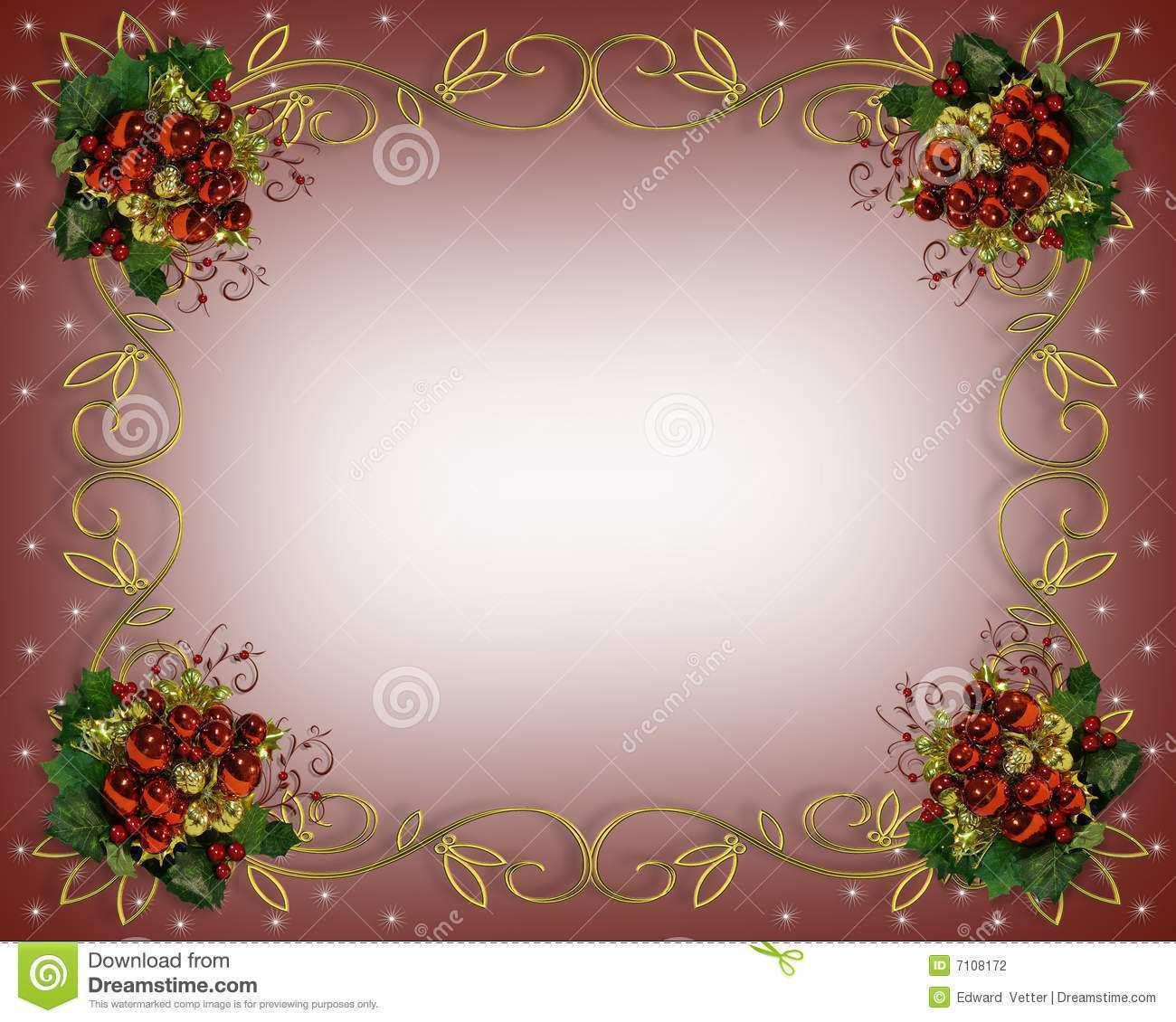 24 Visiting Christmas Card Border Templates Formating for Christmas Card Border Templates