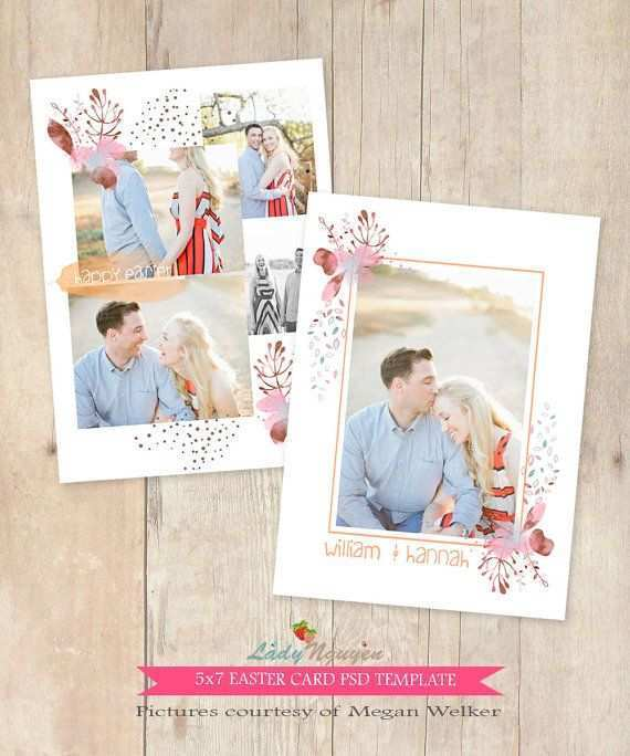24 Visiting Easter Card Photoshop Template Maker with Easter Card Photoshop Template