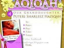 25 Best Invitation Card Aqiqah Template in Photoshop by Invitation Card Aqiqah Template