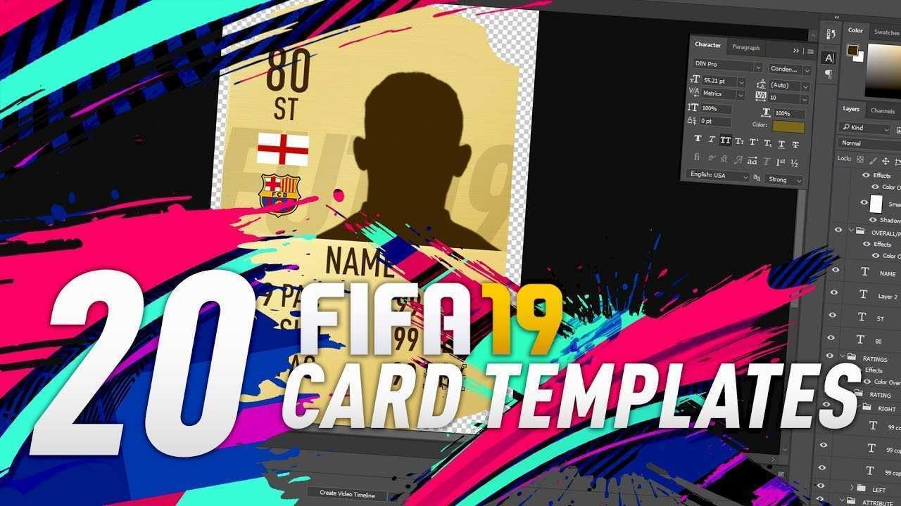 fifa 19 card template free  cards design templates