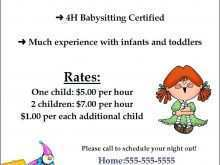 25 Create Babysitter Flyers Template With Stunning Design by Babysitter Flyers Template