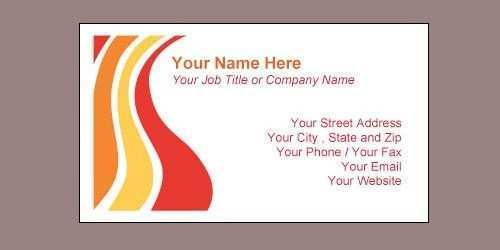 25 Create Name Card Templates For Word For Free with Name Card Templates For Word