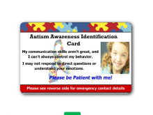 25 Creating Autism Id Card Template in Photoshop with Autism Id Card Template