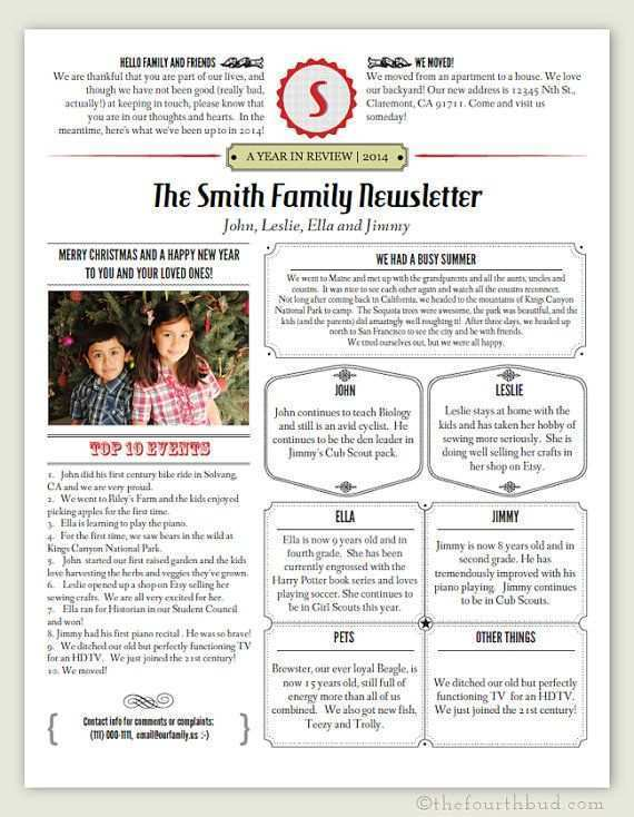 25 Creating Christmas Card Newsletter Template Layouts by Christmas Card Newsletter Template