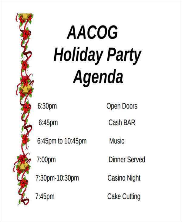 25 Creating Party Agenda Example in Word by Party Agenda Example
