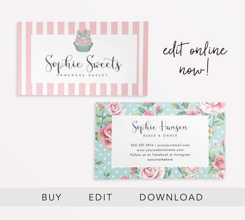 25 Customize Cupcake Business Card Template Design Now by Cupcake Business Card Template Design