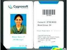 Id Card Template Portrait