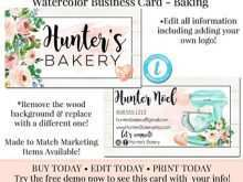 Bakery Business Card Template Free Download