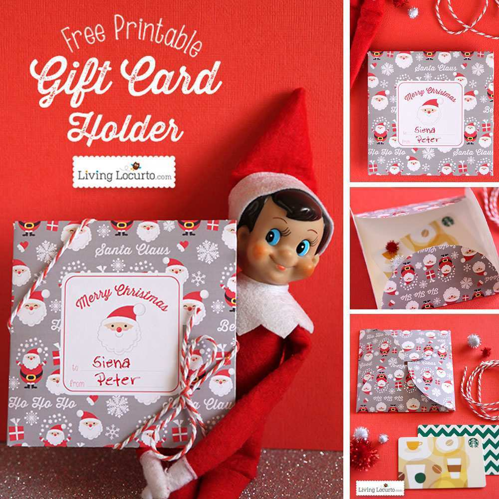 25 How To Create Gift Card Holder Template Christmas With Stunning Design by Gift Card Holder Template Christmas