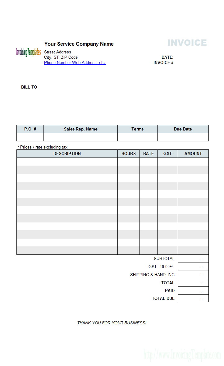 25 Printable Basic Labor Invoice Template PSD File with Basic Labor Invoice Template