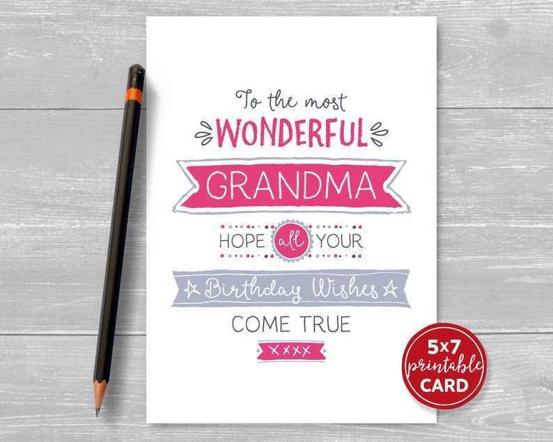 25 Printable Birthday Card Template Grandma Layouts with Birthday Card Template Grandma