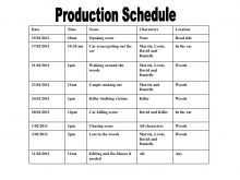 Content Production Schedule Template