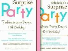 25 Standard 40Th Birthday Card Template Word Formating by 40Th Birthday Card Template Word