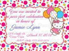 25 Standard Birthday Invitation Card Template Hello Kitty Templates by Birthday Invitation Card Template Hello Kitty
