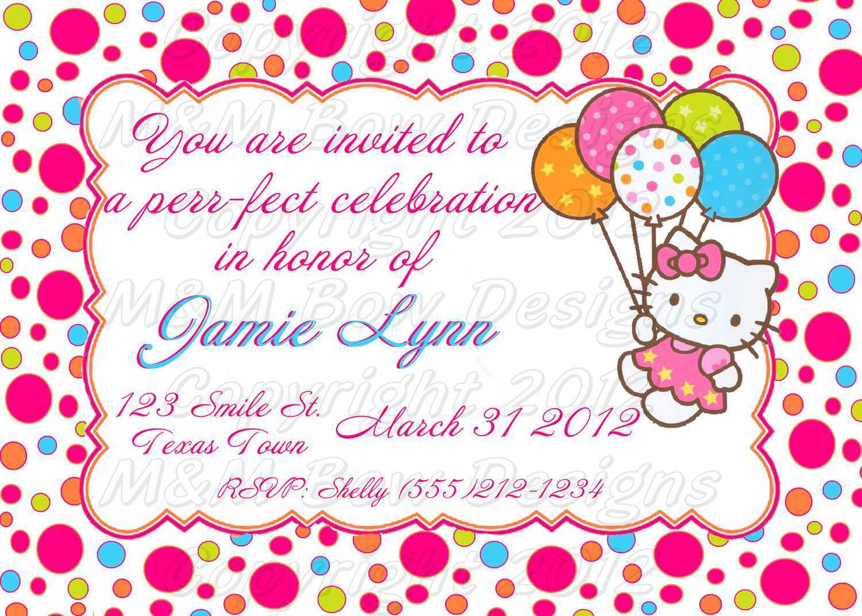 25 Standard Birthday Invitation Card Template Hello Kitty Templates by Birthday Invitation Card Template Hello Kitty
